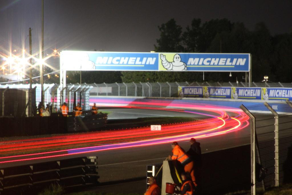 Porsche curves at night
