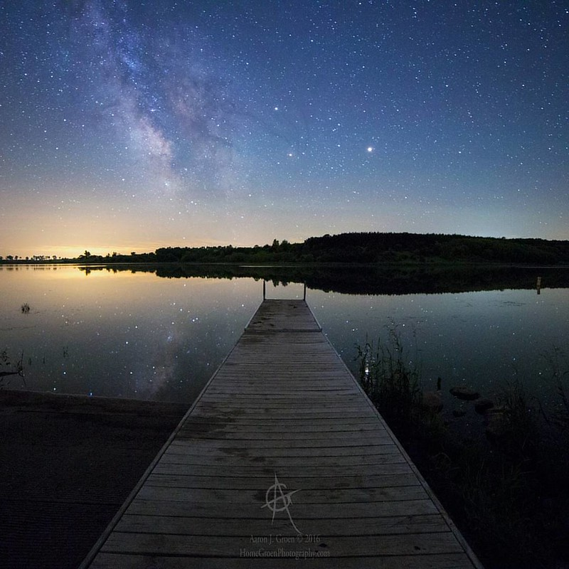 Last Night at Lake Lakota  by Aaron Groen  @HomeGroenPhotography A perfect calm and relaxing night at the lake  June 2 2016 2:59 am  single exposure  Canon EOS 6D  Rokinon 14mm f2.8  @ 34s 6400iso  Prints - HomeGroenPhotography.com
