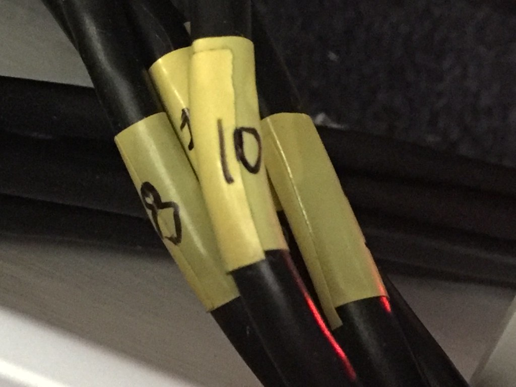 Clear labelling of every cable makes a huge difference