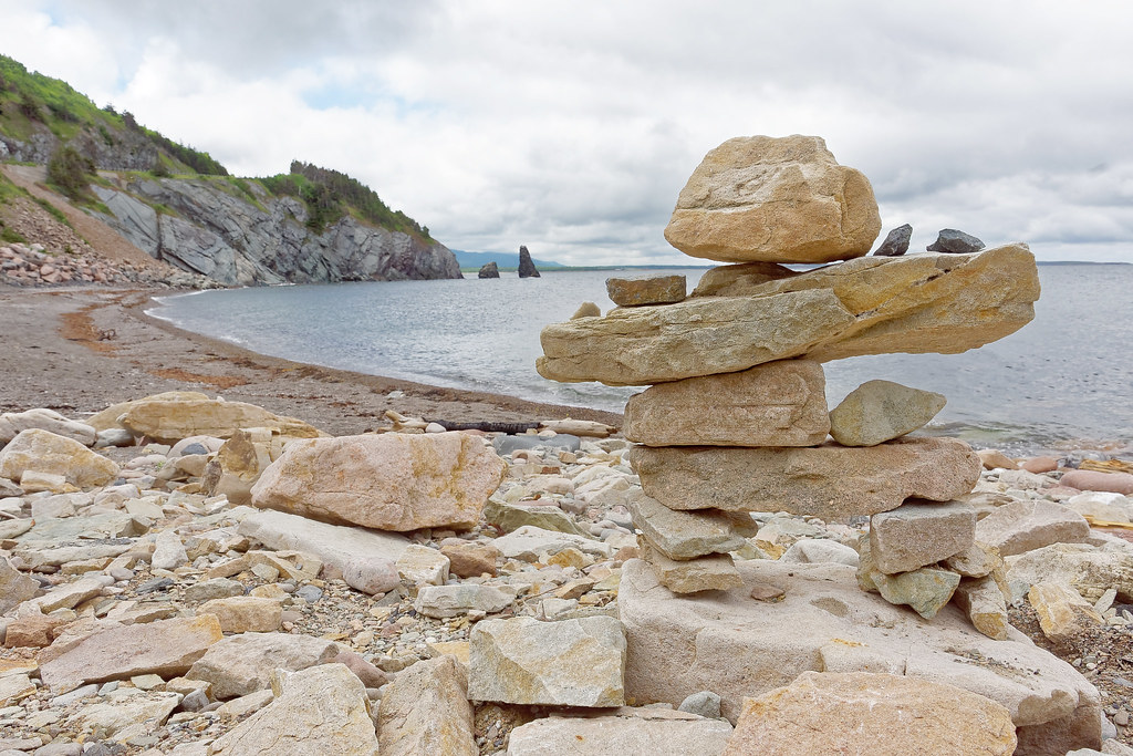 Inukshuk On Cape Breton Island