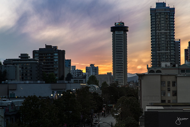 Sunset off Robson & Burrard