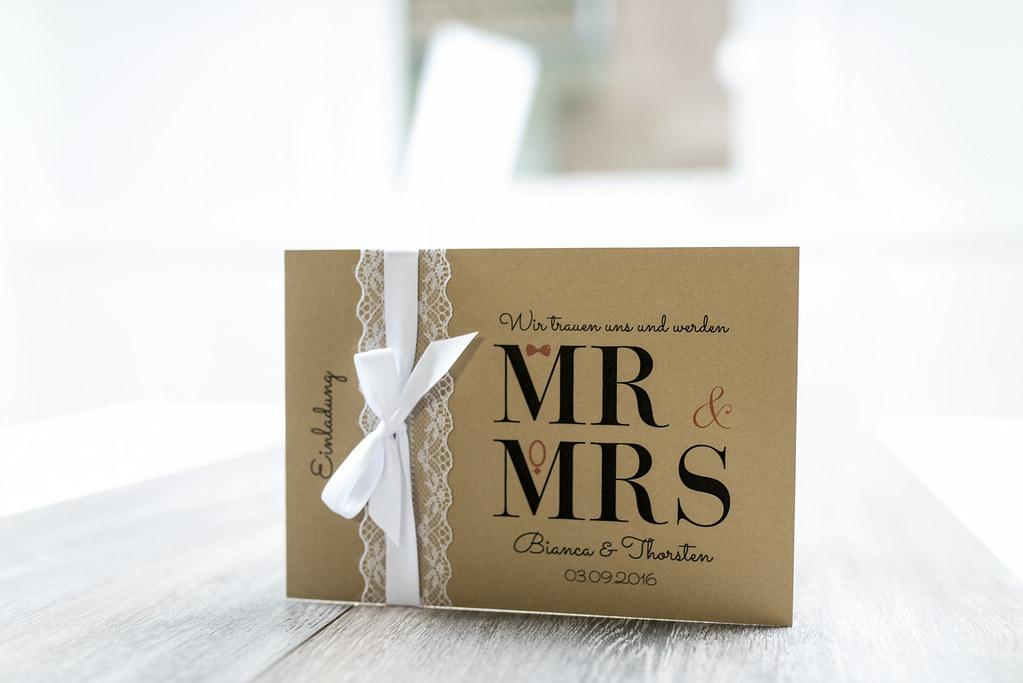 Mr. und Mrs. Einladungskarten 1
