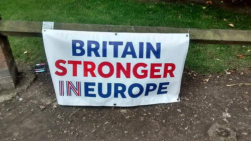 Britain Stronger in Europe banner June 16