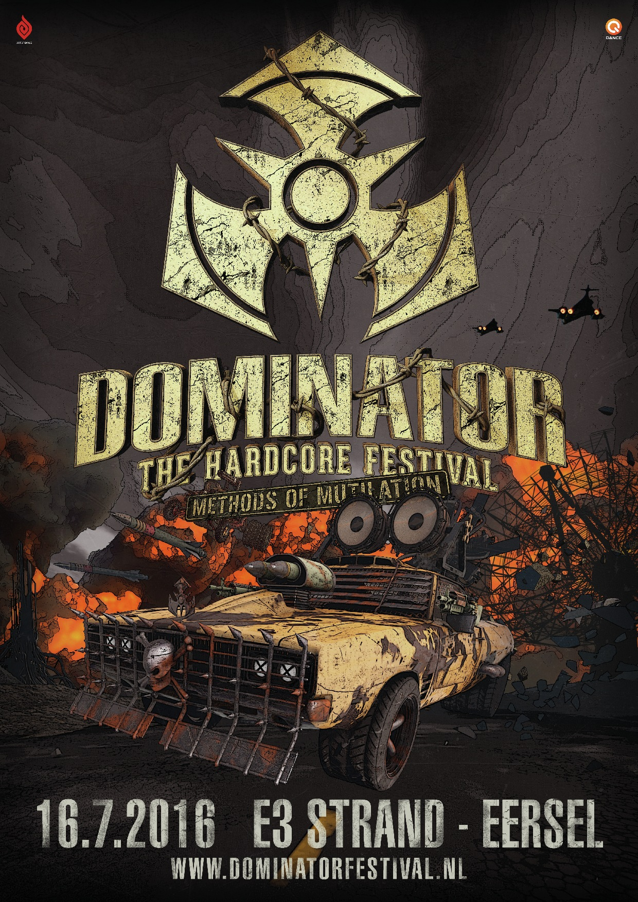cyberfactory 2016 dominator hardcore festival e3 strand eersel nederland