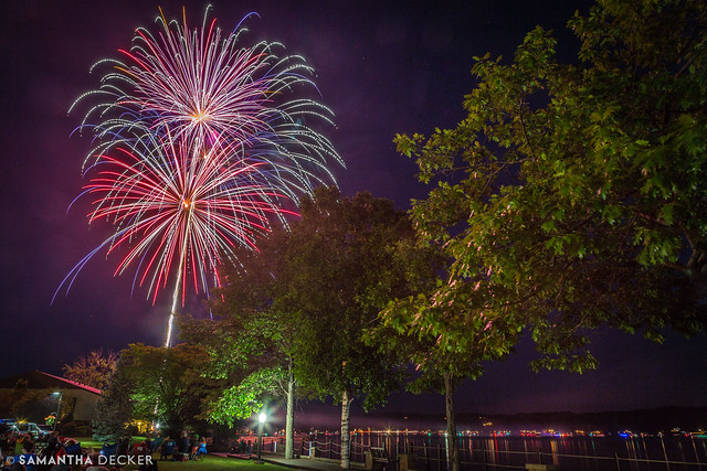 Fireworks Over Saratoga Lake