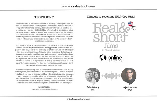REAL&SHORT Online Mentoring with Robert Oberg (TEXAS, USA)