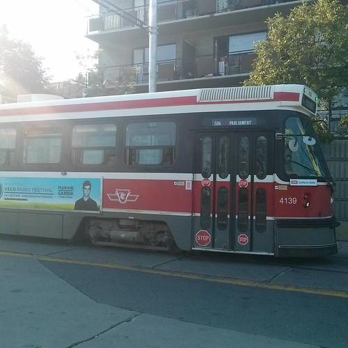 514 Cherry eastbound again #toronto #ttc #streetcar #dufferinloop #514cherry