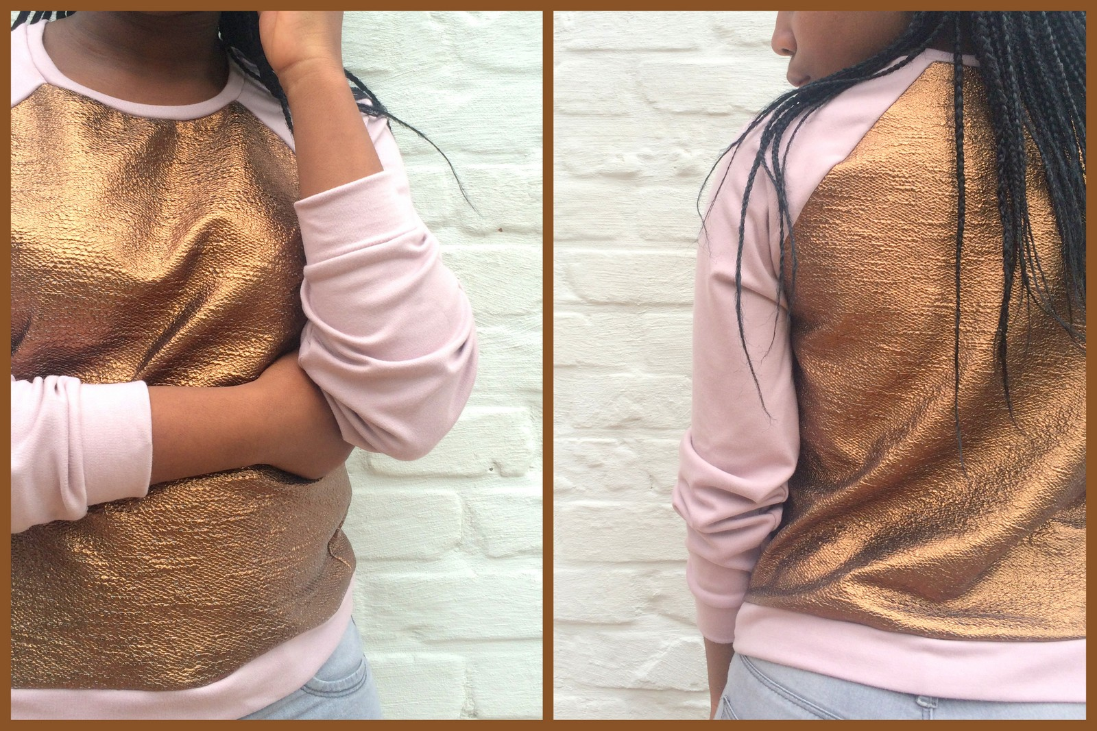 golden sweater (collage)