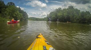 Kayaking and SUP on Saluda Lake-86