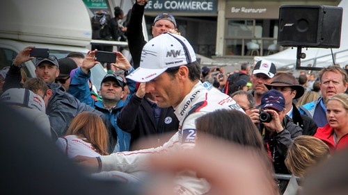 Mark Webber at the drivers' parade