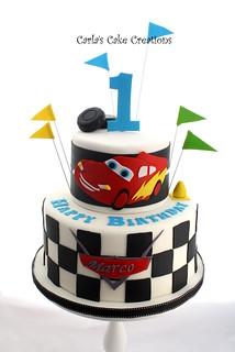 Cars Birthday Cake Cars themed birthday cake Carla s ...