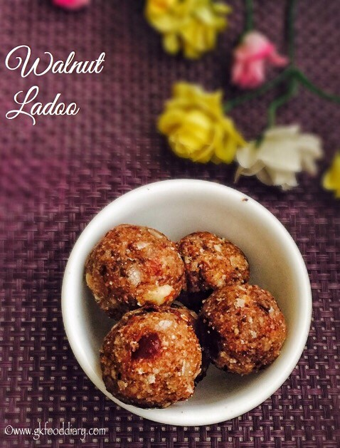 Walnut Ladoo Recipe For Babies, Toddlers and Kids