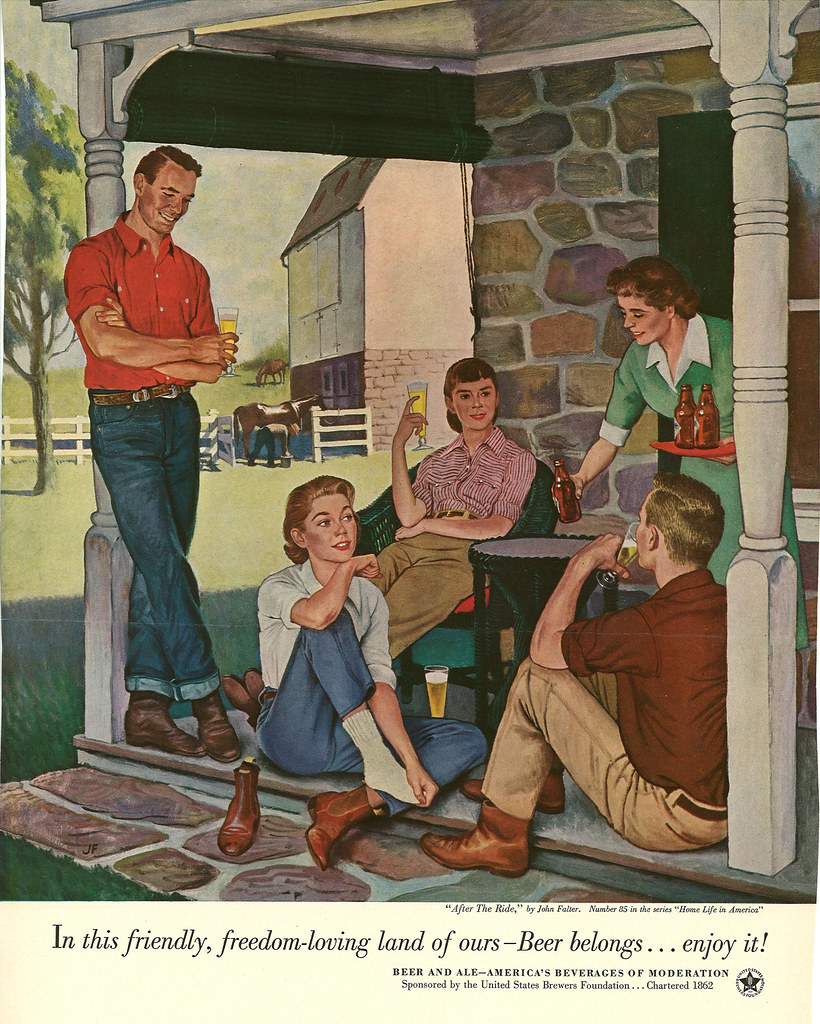 085. After the Ride by John Falter, 1953