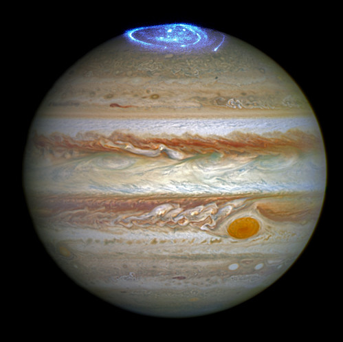 Hubble Captures Vivid Auroras in Jupiter's Atmosphere