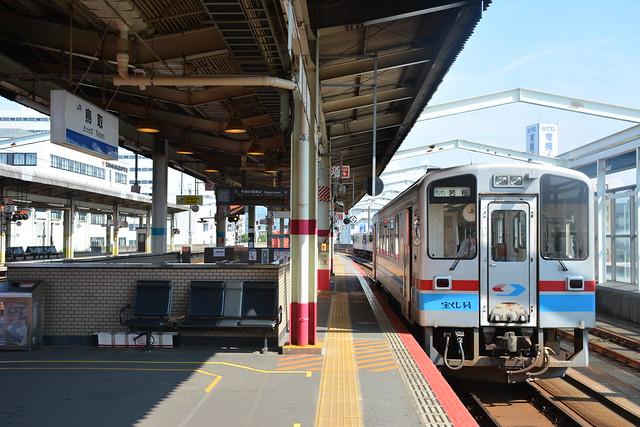 鳥取駅に入線した若桜鉄道WT3101