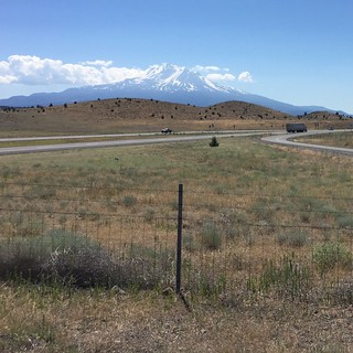 Mount Shasta on Highway 5, California, 2 July 2016