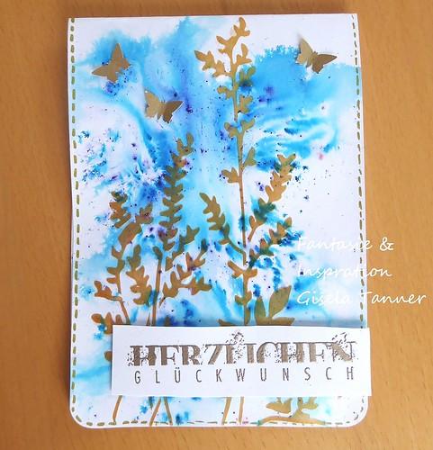 Bastelstunde - Wiese mit Schmetterlingen