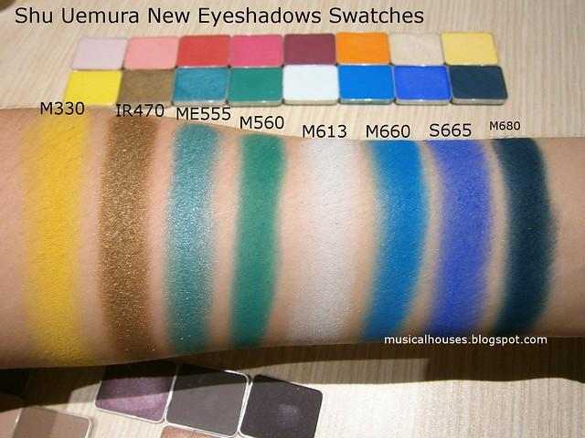 Shu Uemura Eyeshadows Swatches Blue New