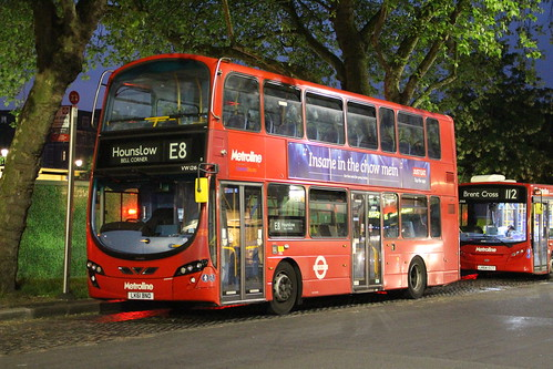 Metroline VW1216 on Route E8, Ealing Broadway