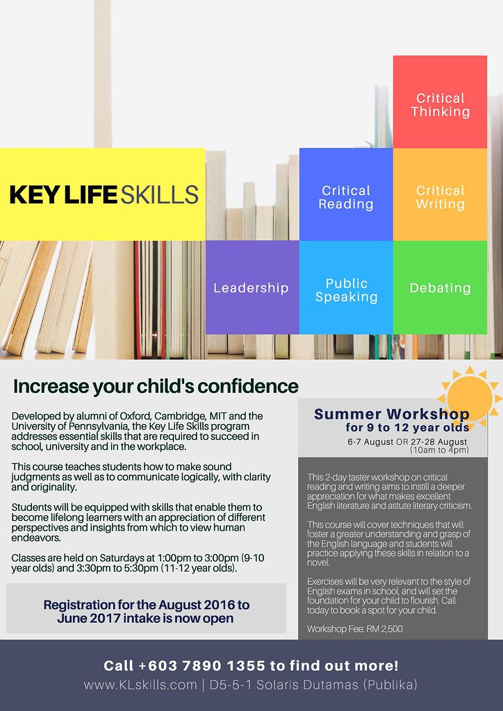 Summer workshops - key life skills