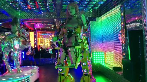 Fembot preshow, Robot Restaurant, Shinjuku, Tokyo, Japan