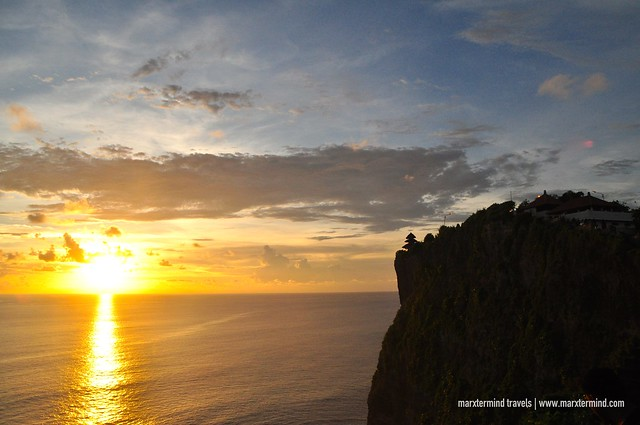 Sunset at Uluwatu Temple Bali