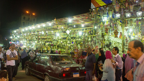 The Ramadan lanterns stalls in El-Sayida
