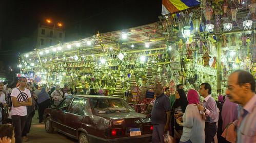 The Ramadan lanterns stalls in El-Sayida
