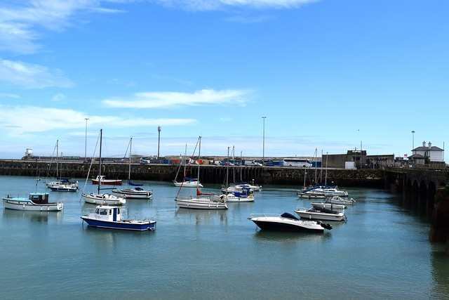 Folkestone Harbour from the Rocksalt Terrace | www.rachelphipps.com @rachelphipps