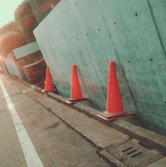 Red traffic cones
