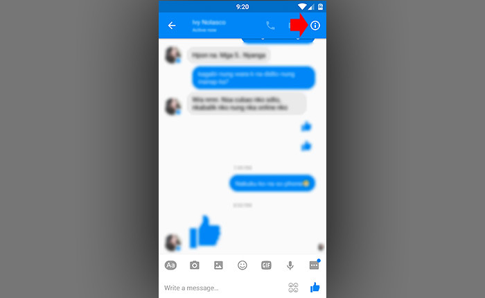 Can you block somebody on facebook messenger