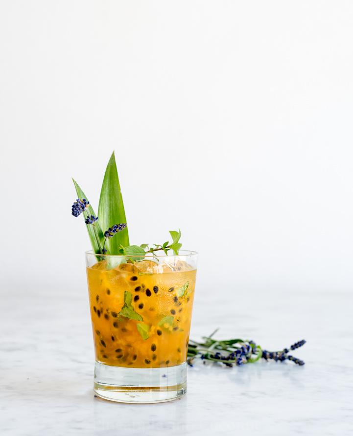 Lavender Passion Fruit Vodka Lemonade www.pineappleandcoconut.com