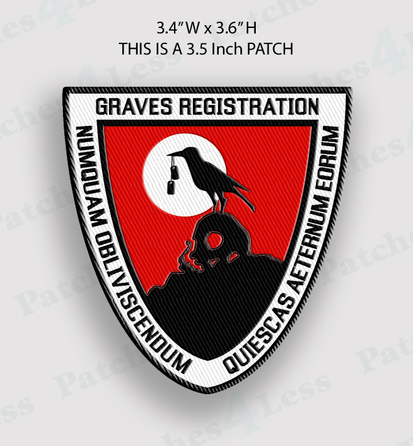 Graves Registration Patch