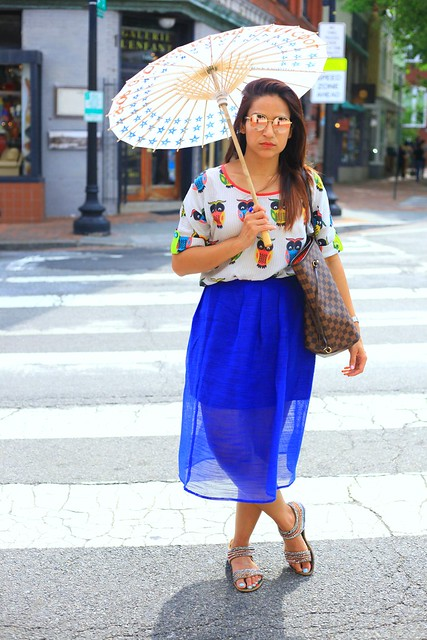 Top - Howrah Bridge  Skirt - Piperlime Shoes - From India Bag - Louis Vuitton Georgetown Tanvii.com