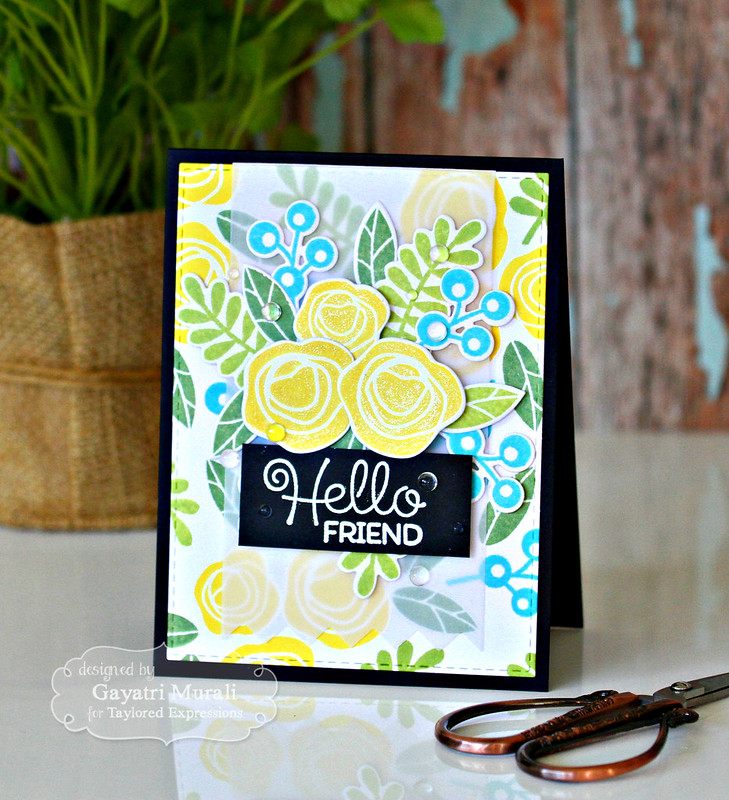 Hello Friend card by Gayatri Murali