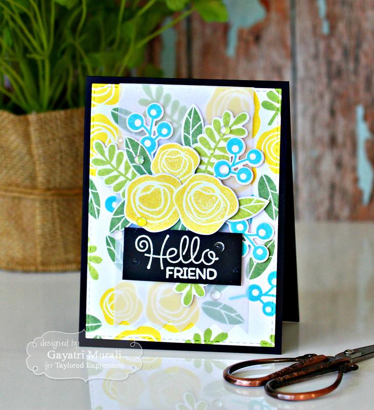 Hello Friend card by Gayatri Murali