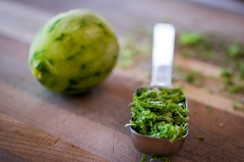 finely grated lime zest