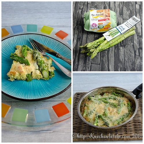 Easy Asparagus Omelet Collage