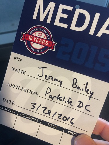 Washington Nationals Media Pass