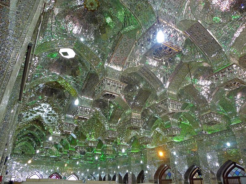 Shiraz Mausoleo Shah-e Cheragh techo
