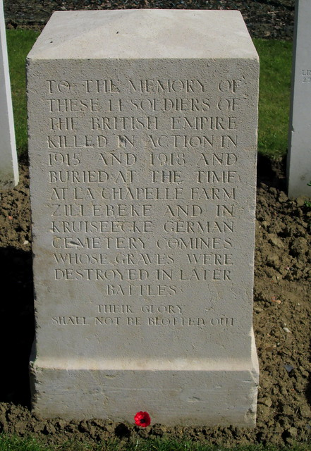 Hooge Crater Cemetery Memorial