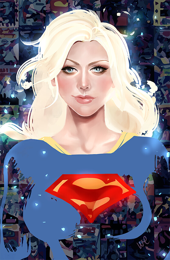 The Ladies of DC and Marvel Comics by Whitney Jiar - Supergirl