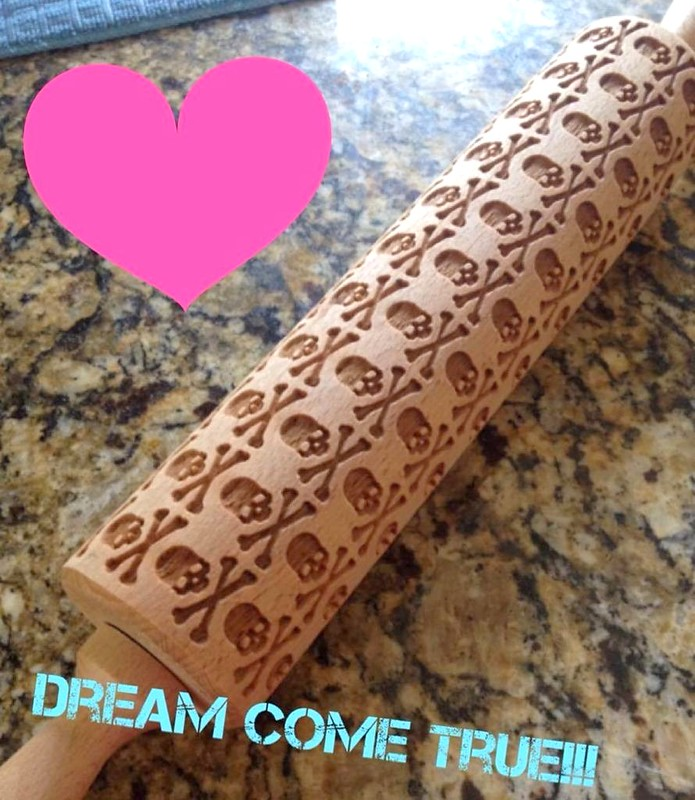 Skulls Rolling Pin by HousemateArtist