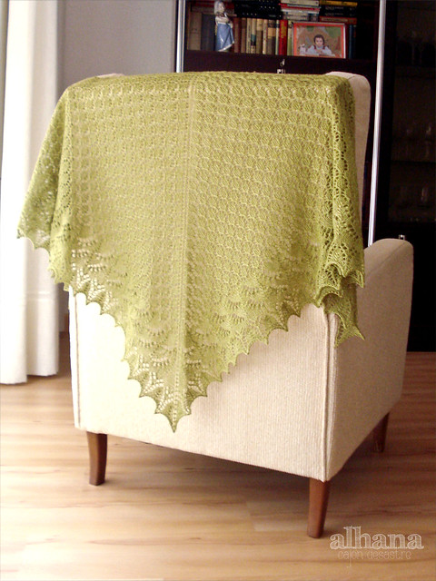 Crab Apple Swallowtail Shawl