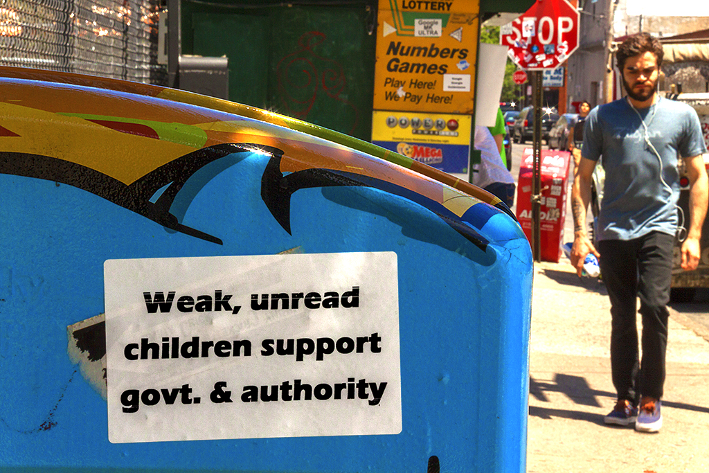 Weak, unread children support govt n authorities--Passyunk Square