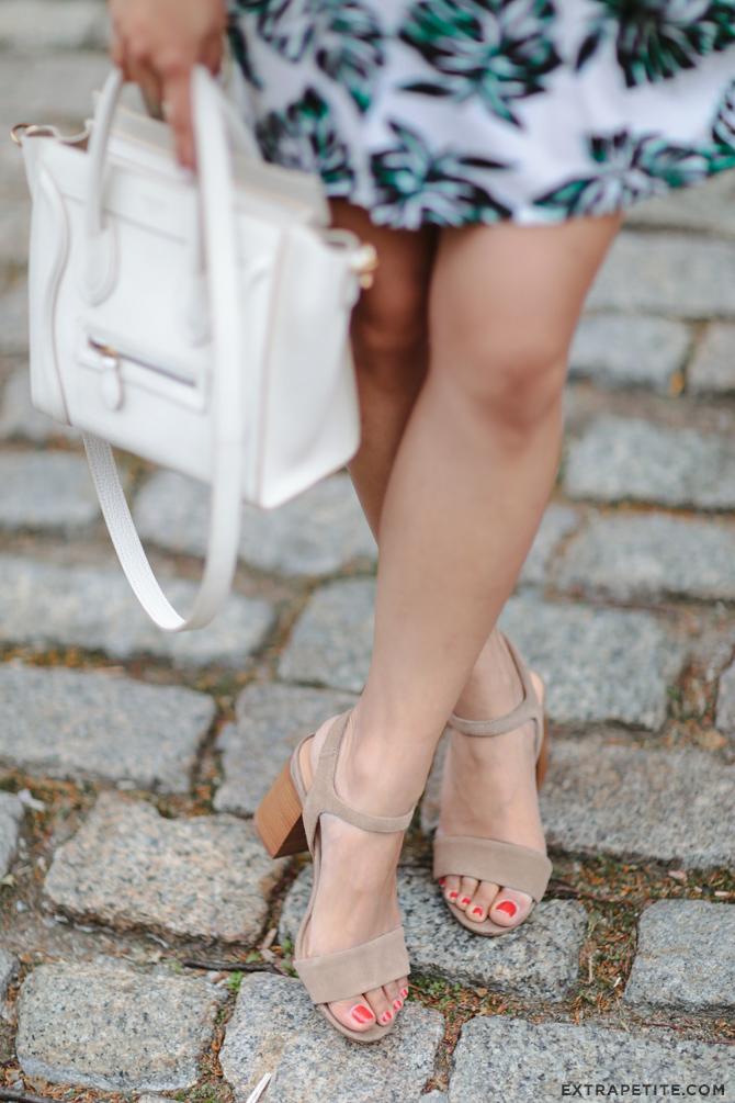 Sole Society Linny sandal Celine white nano bag
