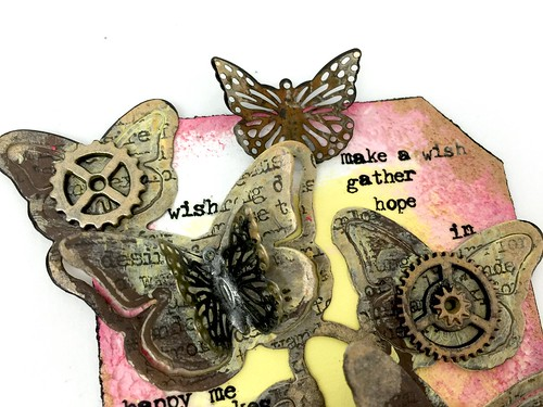 Meihsia Liu simply paper crafts Mixed Media Tag Butterfly 5