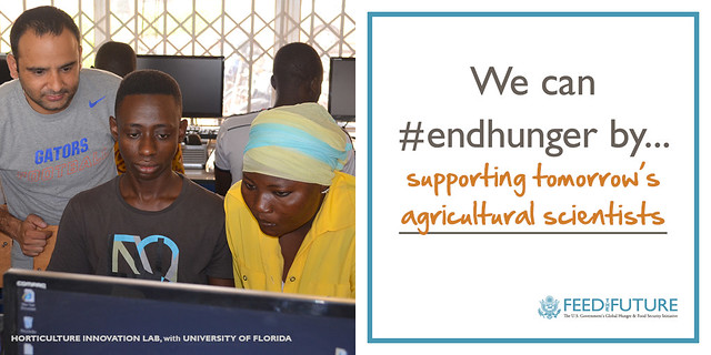 We can #endhunger by supporting tomorrow's agricultrual scientists