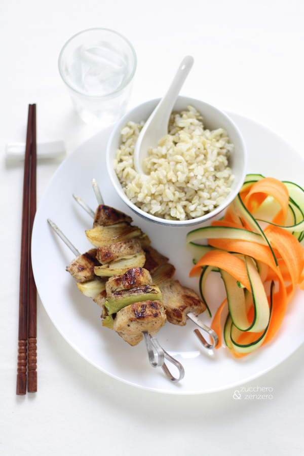 Five spices chicken skewers