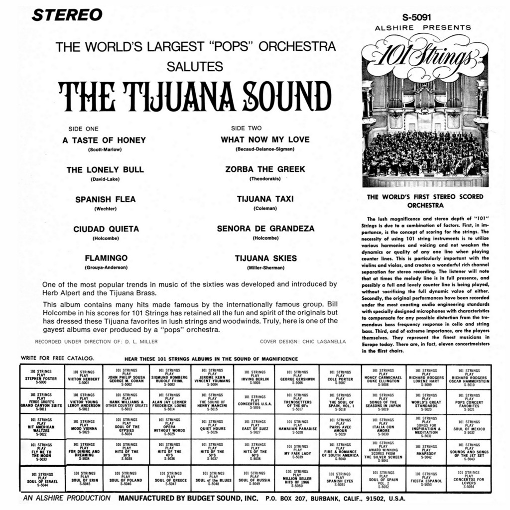 101 Strings Play The Tijuana Sound b